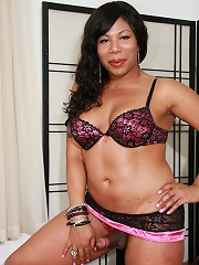 Hot black Tgirl with a real kinky side!